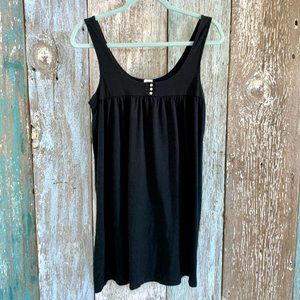 J. Crew Cotton Sleeveless Dress Black Medium